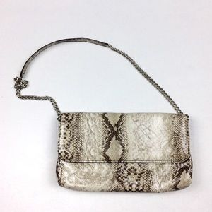 Snake Print with chain strap small shoulder bag